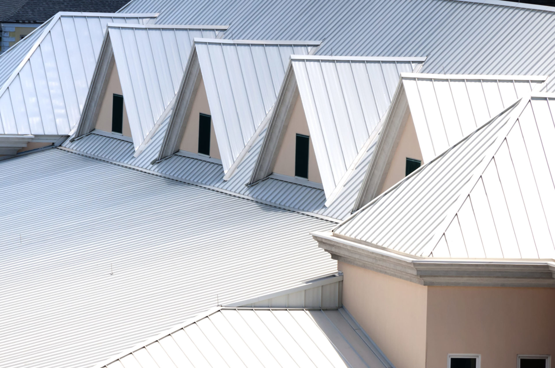 tin roof metal silver colour